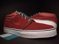 Nike ZOOM STEFAN JANOSKI MID SB TEAM BURGUNDY RED CRYSTAL MINT GREEN WHITE DS 12