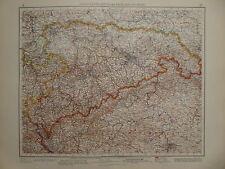 Landkarte südöstliches Mitteldeutschland - Sachsen, Dresden, Leipzig, V&K 1937