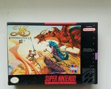 Wanderers From Ys III. Ys 3 Super Nintendo SNES Role Playing Video Game Perfect!