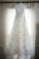 Beaded Wedding Gown + Veil+ Petticoat (Size 8-10)