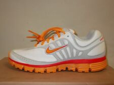 NIKE  DUAL FUSION WHITE ORANGE WOMENS SHOES US 8.5 ** AUSTRALIA FREE POST