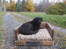 Rustic Dog Bed for Extra Large Dogs, Reclaimed, Pallet Furniture, Pet Bed