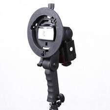Hand Held Grip S Speedlite Flash Bracket Bowens Mount Holder for Snoot Softbox