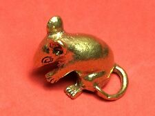 ANTIQUES GANESH BRASS AMULET LUCKY RAT MINIATURE FIGURINE VINTAGE COLLECT STATUE