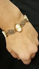 ANTIQUE STYLE ROMAN SHELL CAMEO ITALY BRACLET 14k