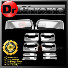 04-08 Ford F150 Chrome Top Half Mirror+4 Door Handle+no keypad PSG keyhole Cover