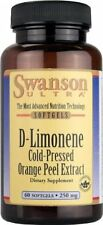 Swanson Ultra D-Limonene Cold-Pressed Orange Peel Extract, 60 Softgels 250 mg