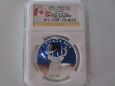 ag(D)2014 White-Tailed Deer Canada $20 Portrait Early Release PF 70 Ultra Cameo