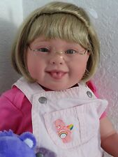 "Reborn 22"" Down Syndrome Toddler Girl Doll ""Care Bear Katie"""