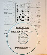 Bruel & Kjaer 2107 Frequency Analyzer, Operating Manual
