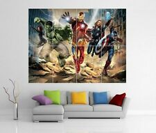 THE AVENGERS ASSEMBLE MARVEL IRON MAN HULK THOR GIANT WALL ART POSTER H14
