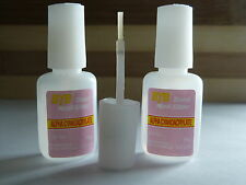 2 X 10g NAIL ART GLUE WITH BRUSH ON STRONG ADHESIVE FAKE ACRYLIC  FALSE TIPS GEM