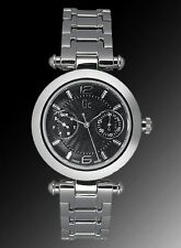 NEW GUESS GC PRIMERA CLASS SILVER SS BRACELET LADY WATCH I17505l2 DAY DATE NWT