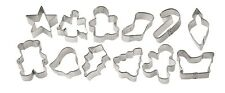 Christmas Holiday Mini Metal Cutter Set 12 pc from Wilton #1250 - NEW
