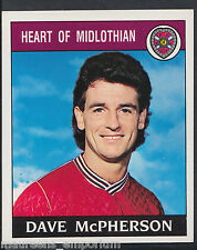Panini Football 1989 Sticker - No 400 - Hearts - Dave McPherson (D1)