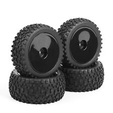 4Pcs Rubber Front&Rear Tires Wheel Rim HH0473 For RC 1:10 Buggy Off-Road Car