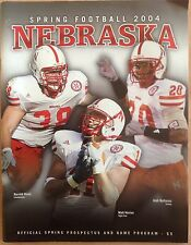 Nebraska Huskers 2004 Spring Game Program & Roster With Herian, Ruud & Bullocks