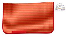 NEW Excelsior Red Orange Stripe Portuguese Style Linen Saddle Cloth 803125