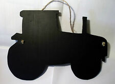 Big TRACTOR chalkboard sign farm animal farm yard office black board Christmas c