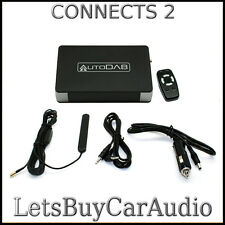AUTODAB FM WIRELESS ADD-ON DAB RADIO WITH RF REMOTE CONTROL & GLASS MOUNT AERIAL