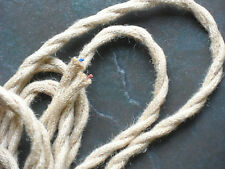 1 Mtr JUTE ROPE COVERED 2 CORE LIGHT FLEX WIRE CORD HANGING LAMP PENDANT CEILING