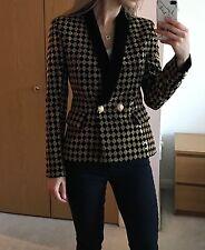 BNWT £2300 BALMAIN Heavily Embellished Signature Tuxedo Style Blazer Jacket FR38