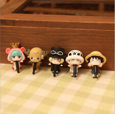 "5pcs Anime One Piece Luffy Chopper 1.5""-2""in Anti-Dust Plug For Mobile Phone"