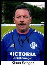 Klaus Senger FC Schalke 04 FOTO ORIGINALE FIRMATO + a 79034