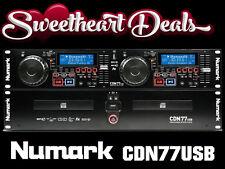 New Numark CDN77USB Dual Professional CD Player rack mounted remote DJ Ltd Qty!