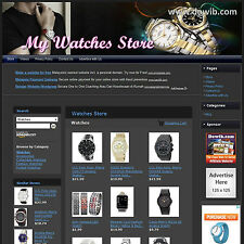 WATCHES STORE - Professionally Designed & Fully Functional Website + FREE Domain