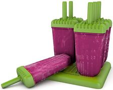 Homemade Popsicle Molds Ice Pop Makers Set of 6 BPA Free Deluxe Quality Smoothie