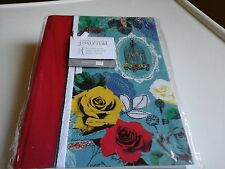 PEPPER POT RED FLORAL160 PAGE WHITE RULED DECORATIVE BOUND JOURNAL