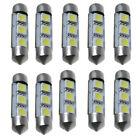 10 x 36MM 3 LED 5050 SMD Festoon Dome Car Light Interior Lamp Bulb 12V Ornate