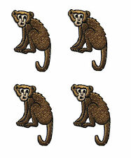 #3039 Lot 4 Pcs Monkey Embroidery Iron On Applique Patch