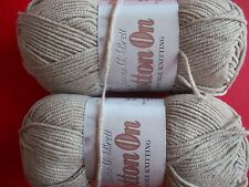 James C. Brett Cotton On DK cotton blend yarn, White Sand, lot of 2 (158 yds ea)
