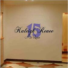 Personalized Quinceanera Wall / Floor Graphic Decal