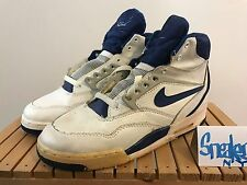 1990 Nike Air Flight 90 OG White Dark Royal Blue Vintage Nike with box US 5Y