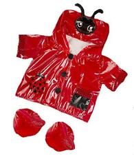 "8"" RED LADYBIRD LOVELY RAINCOAT COAT WITH BOOTS  FITS 8""-10"" (25CM) TEDDY BEARS"