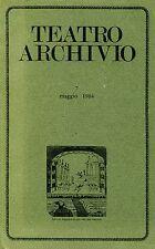 TEATRO ARCHIVIO 7 MAGGIO 1984