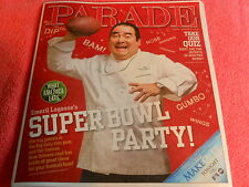 PARADE MAGAZINE JANUARY 2013 EMERIL LAGASSE SUPER BOWL PARTY RECIPES