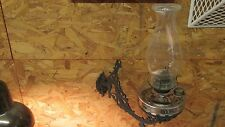 Antique Stover Ideal Cast Iron Oil Bracket Lamp