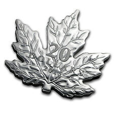 2015 Canada 1 oz Silver $20 Proof Maple Leaf Shaped Coin - SKU #92126