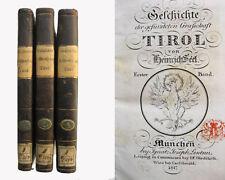 Geschichte der gefürsteten Grafschaft Tirol - 3 Bände - 1816