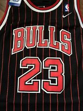 Michael Jordan Chicago Bulls Nike Stitched Pin Stripe Jersey Sz Large New