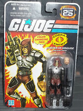 G I GI JOE 25TH ANNIVERSARY FOIL CARD COBRA MASTER OF DISGUISE ZARTAN FIGURE MOC