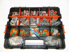 504 PC OEM GRAY DEUTSCH DT CONNECTOR KIT - SOLID TERMINALS + REMOVAL TOOLS,