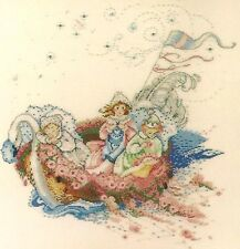"SALE! COMPLETE X STITCH KIT ""THE BABY BOAT"" by Mirabilia"