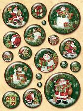 K&Company GLAD TIDINGS SANTA & SNOWGLOBE Clearly Yours Epoxy Stickers Cardmaking