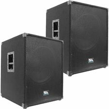 "Pair of SEISMIC AUDIO 18"" PA POWERED SUBWOOFER Active Speakers 800 Watts Each"