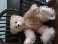 "ROBIN RIVE "" SUNSET "" PALE PINK MOHAIR TEDDY BEAR LTD ED 0F 300"